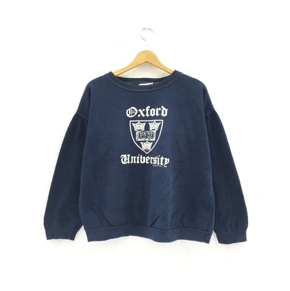 Rare! Vintage 90s University Oxford CrewNeck Long