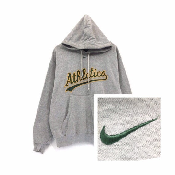 Rare! Vintage 90s  NIKE Middle Small Swoosh Hoodie