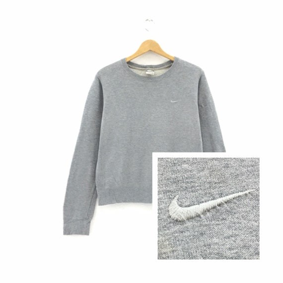 Rare! Nike Small Swoosh CrewNeck Long Sleeve Sweat