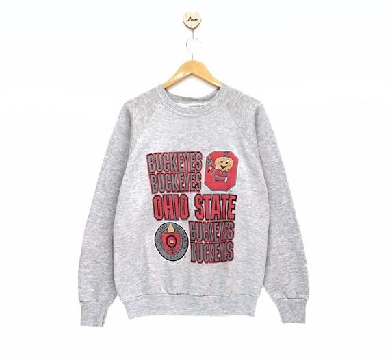 Ohio State Buckeyes Sweatshirt Vintage 80s Champion Reverse Weave Made In USA