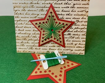 DIY string-art Holiday cards & ornament (pack of 04)