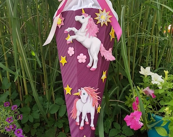 """School bag """"Unicorn"""" - different colors & motifs (finished or as a craft set)"""