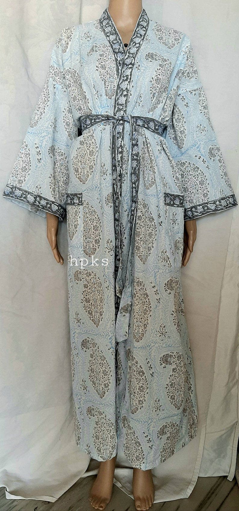 Indian Women/'s Cotton Kimono Beach Caftan Christmas gift dress,Plus size Night Gown Paisley Print Gown Sleep Wear Bathing Gown Soft Kimono