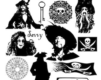Disney Pirates of the Caribbean Inspired Captain Jack/'s Antique Shop SVG PNG Cut File Shirt