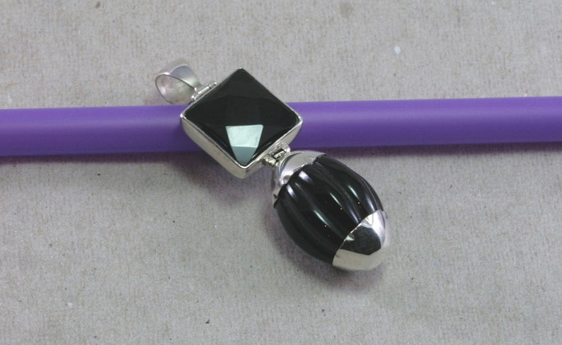 Onyx and Silver Pendant
