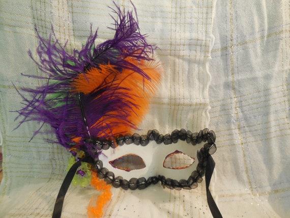 Masquerade Mask--hand embellished purple