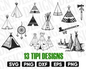 TIPI SVG, Teepee Tent svg, Teepee Vector, Indian Teepee SVG, Tipi Tent Svg, native american tribe, Teepee silhouette, Tribal Svg, Cut File