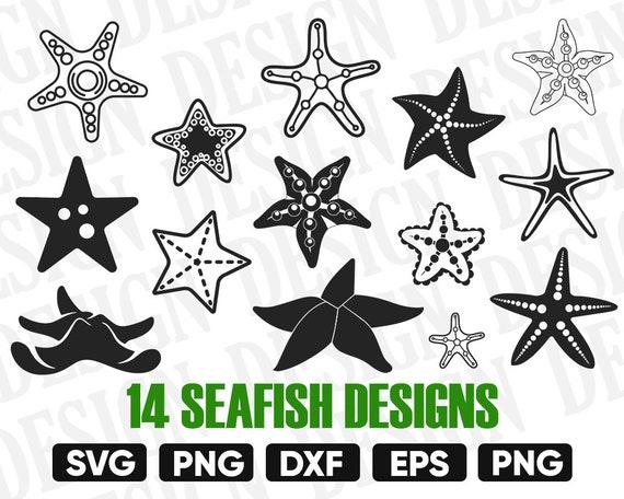 Starfish Svg Starfish Silhouette Starfish Clipart Starfish Etsy