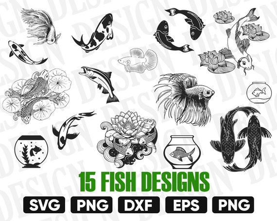 View Fishing Monogram And Phrases Design Set – Svg, Dxf, Eps, Png – Cutting Files PNG