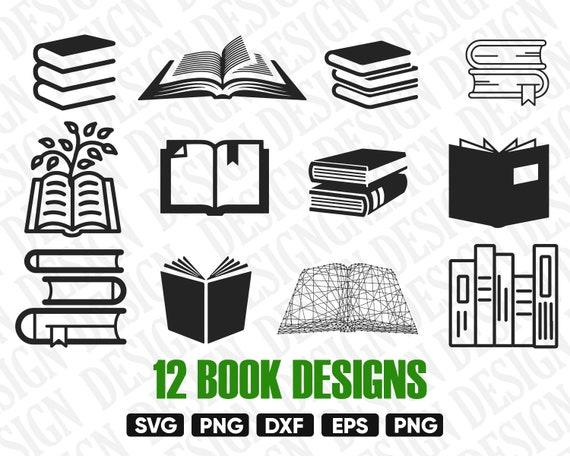 Book Svg Svg Livre Ouvert Livres De Lecture Bibliotheque Svg Clipart Livre Pochoir De Livre Svg D Ecole Paquet De Livre Svg Silhouette De