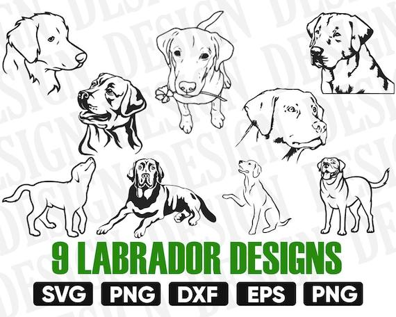 Labrador Retriever Svg Bundle Dog Svg Dog Svg Puppy Svg Etsy