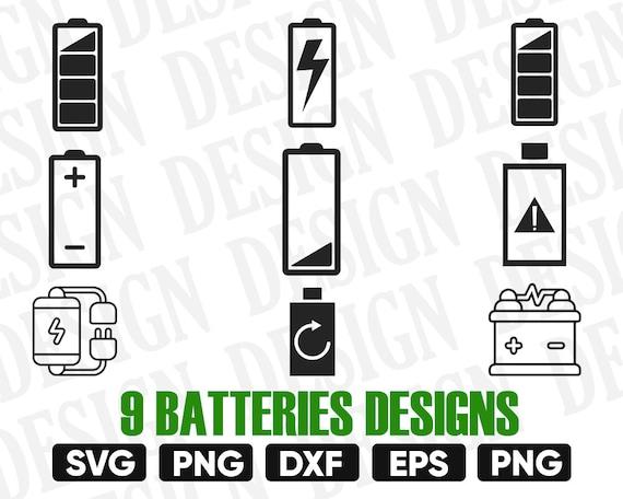 Batteries Svg Low Battery Svg Full Battery Svg Cricut Etsy