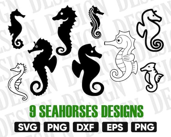 Seahorse Svg Sea Animal Svg Seahorse Silhouette Seahorse Etsy