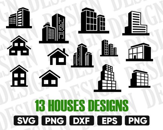 House Svg House Cricut Building Clipart Home Svgbuilding Etsy