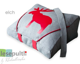 Reading pillow/Lesepultli with Moose
