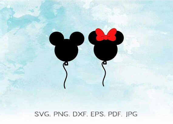 Disney Svg Disney Balloons Svg Mickey Balloon Svg Minnie Etsy