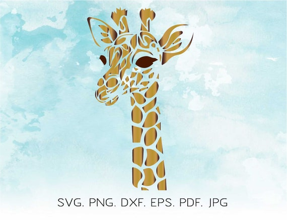 Giraffe Svg Wild Life Svg Cute Giraffe Silhouette Africa Etsy