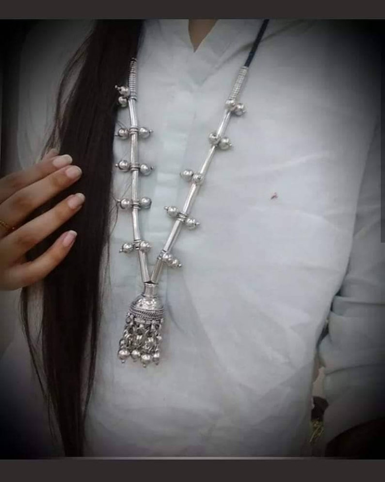 Absolutely Stunning Dholki Necklace in silver!!!