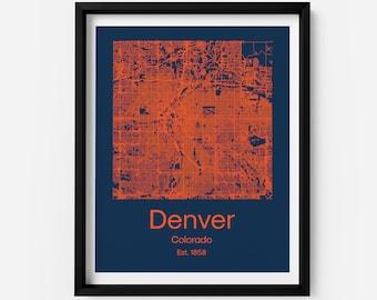 Broncos printing | Etsy