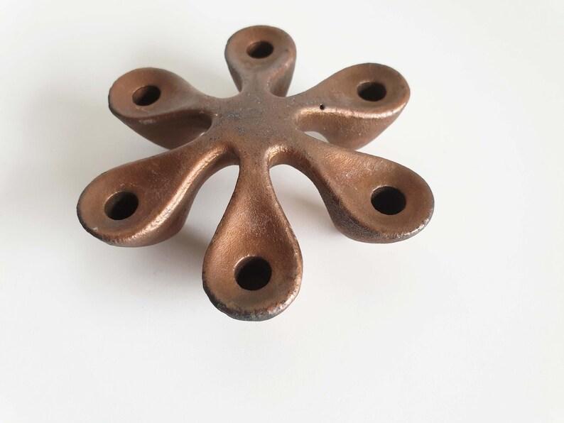 midcentury Quistgaard candlestick for Laurids Lonborg vintage Danish design cast iron