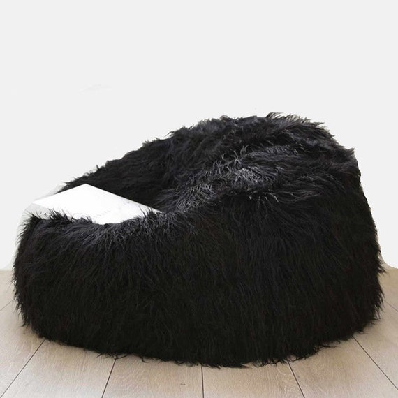 Luxury Large Lush   Soft Alpaca Faux Fur Bean Bag Cloud Chair  78483e9635e9e