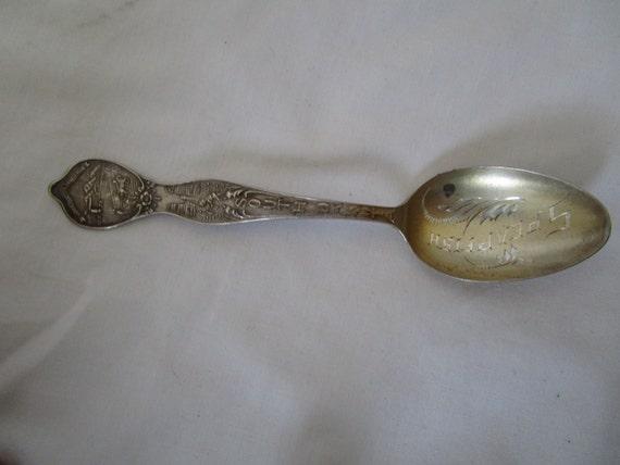 Antique Sterling Silver Souvenir Spoon Huron South Dakota