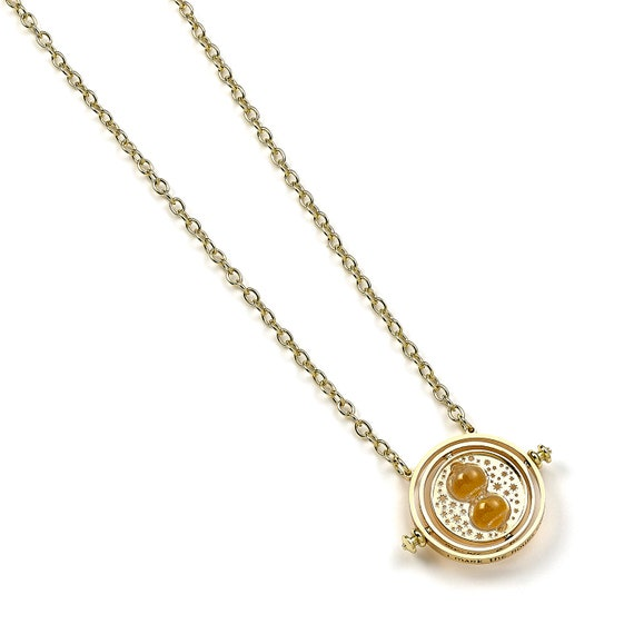 Official Harry Potter Gold Plated Fixed Time Tuner 20mm Necklace Pendant