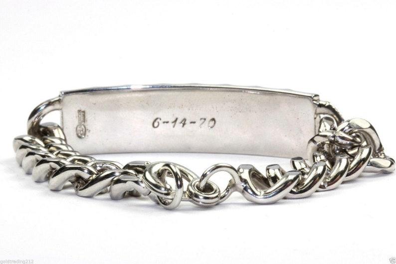 Vintage Name Steven  Mens Id Cuban Chain Bracelet 6.75 In 925 Sterling Br 1650 401744712998