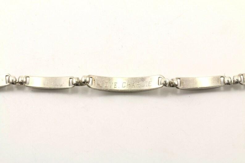 Charlie/'/' Chain Bracelet Br 2226 Vintage Engraved /'/'love