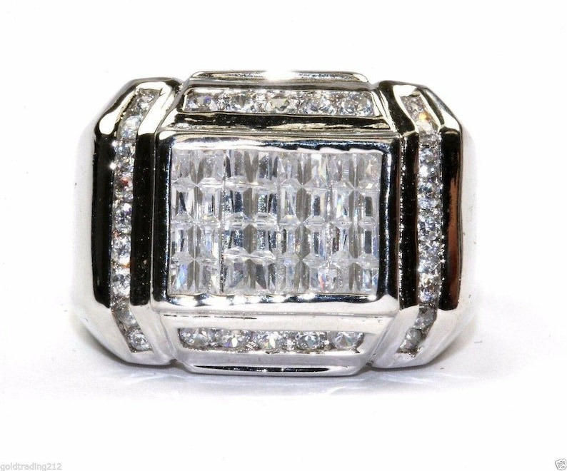 Ring New .925 Sterling Silver Vintage Rectangle Band