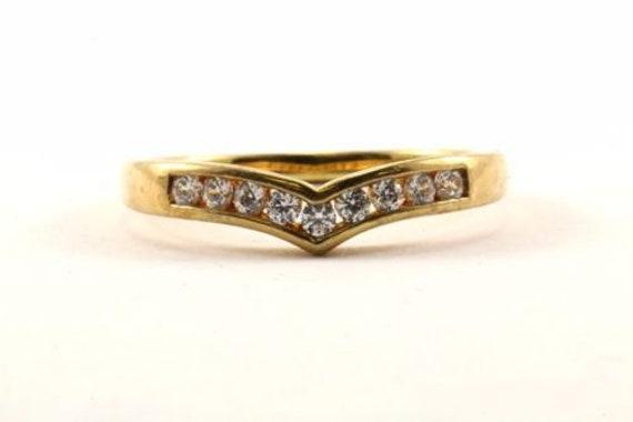 123702070614 Vintage 14k Gold Front Cross Design Band Ring 925 Sterling Rg 1771