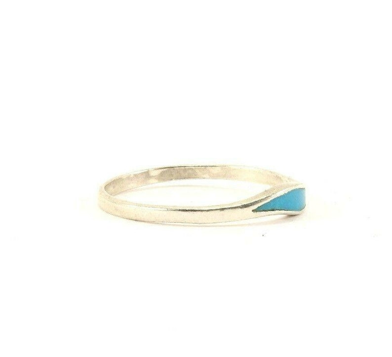 Vintage Silver Turquoise Band Design Ring 925 Sterling Silver Rg 3733 273772186480