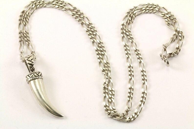 Vintage Snake Teeth Design Necklace 925 Sterling Nc 1225 273772197873