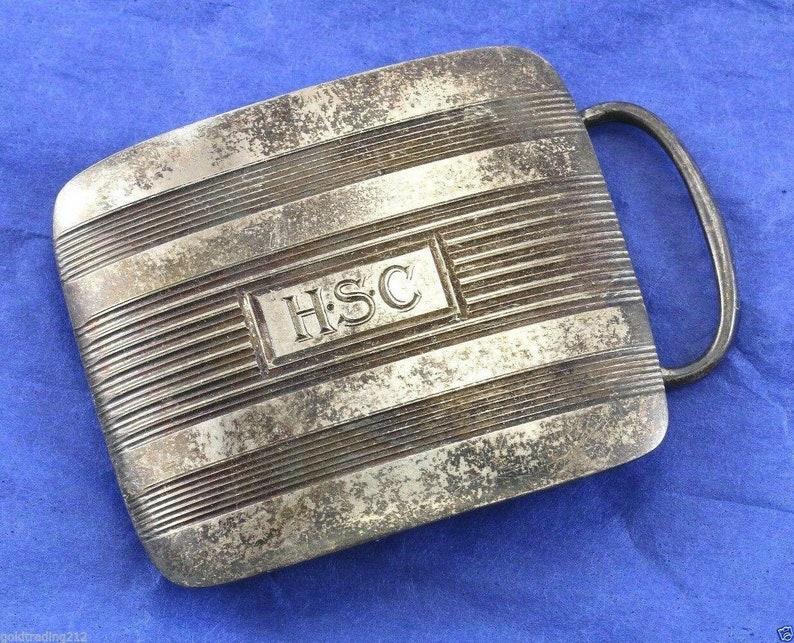 273834762993 R.blackinton #3396 Belt Buckle Piece Hsc Initial Engraving Sterling Ot 115