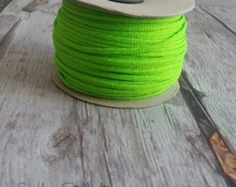 Polyester cord 1 m light green lime cord ribbon