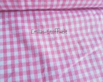 Vichy pink plaid plaid cotton