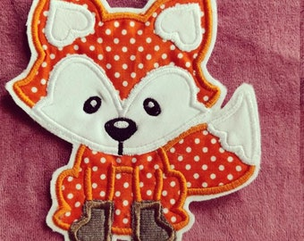 Fox applique patch fox fox ironing picture
