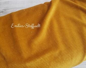Cord rib jersey uni mustard caramel mustard yellow cordoptic cordjersey