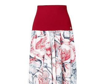 Oriental yoga pants floral