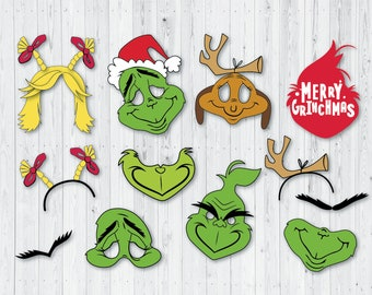photo relating to Grinch Mask Printable identify Grinch video clip Etsy