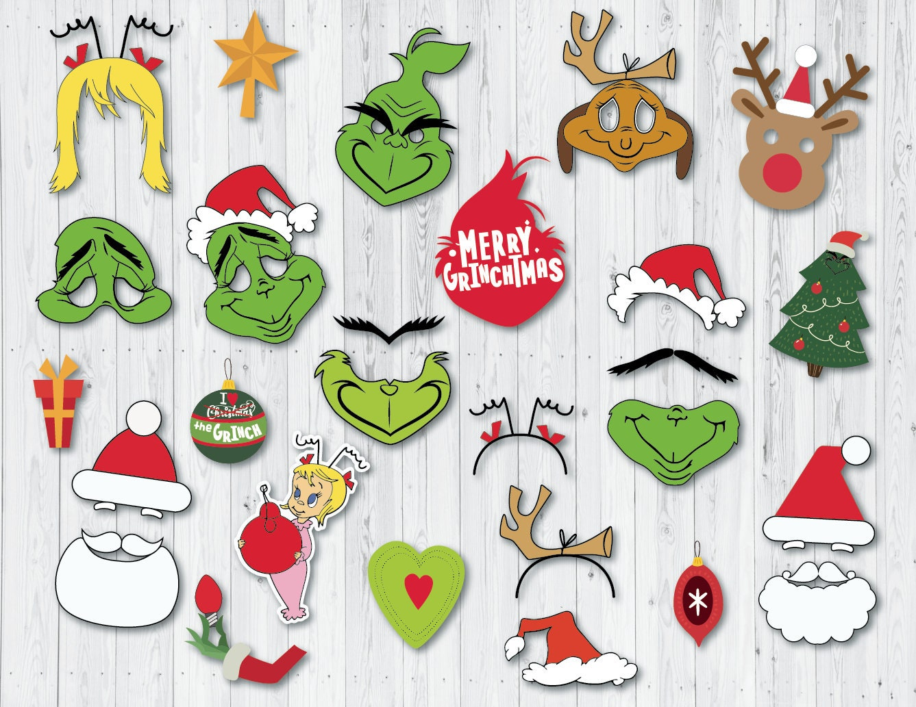 The Grinch party props Christmas photo booth printables ...