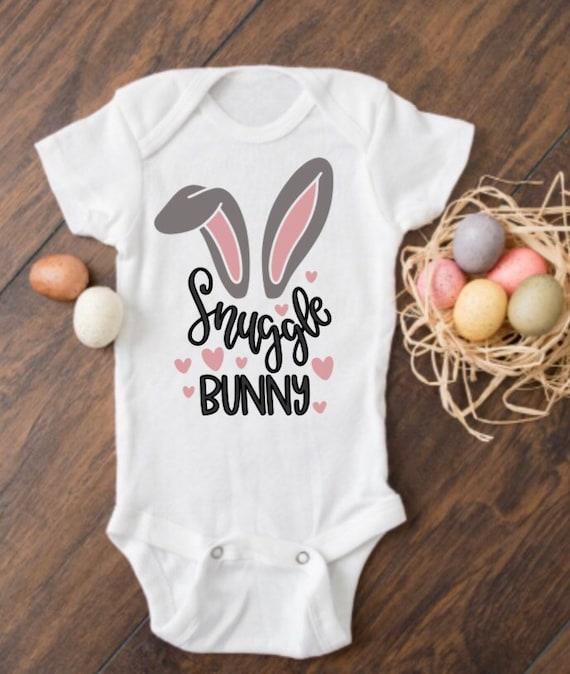 bunny bodysuit Some bunny loves me bodysuit newborn baby Easter bodysuit personalized bodysuit baby\u2019s first Easter bodysuit