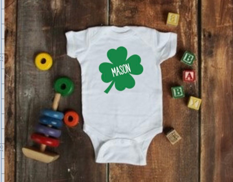 Patrick\u2019s Day Personalized Custom Name Onesie Baby Outfit St