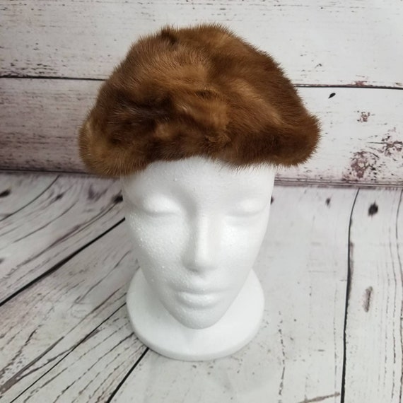 REAL FUR beret STYLE Hat Designed by Lora
