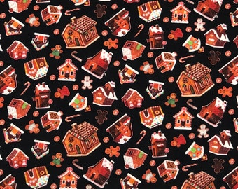 Mixed Christmas Gingerbread Man Cookies 4 Fat quarter Bundles tissu