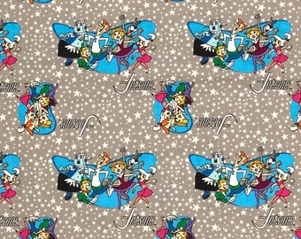 Jetsons Retro Shapes Fabric By Half Yard, Fat Quarter, Jetsons Pop Culture Cotton Fabric By Fat Quarter or 1/2 Yard