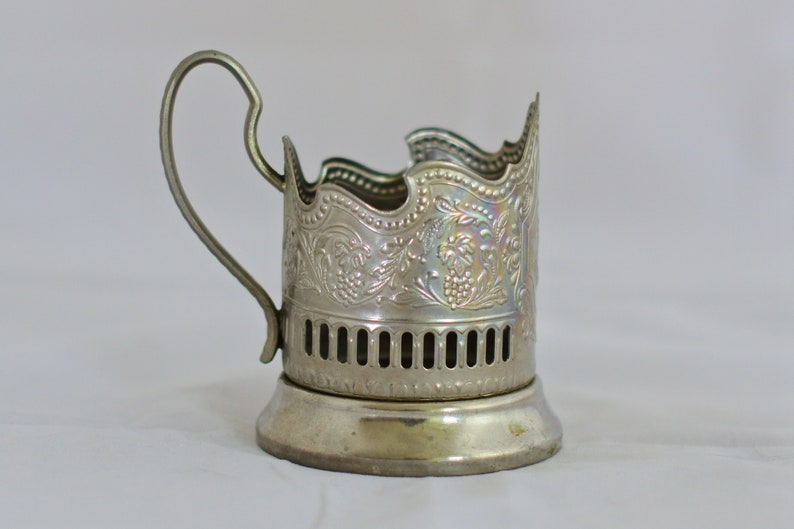 russian antiques Vintage tea glass holder with ship Soviet glass holder Soviet memorabilia Soviet podstakannik Made in USSR Vintage kitchen