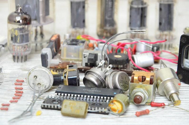 Vintage industrial tools Soviet steampunk Soviet gauge steampunk radio tubes radio components dashboard