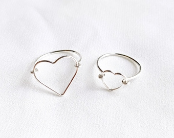 APHRODITE Ring // Silver 925 // Big Heart