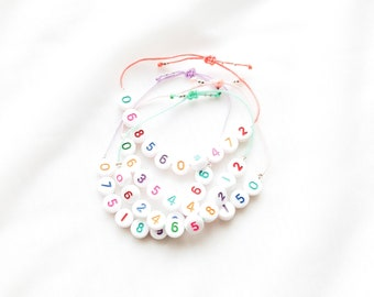 CHILDREN's SOS safety bracelet // Adjustable cord with emergency phone number to customize